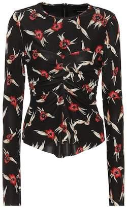 Isabel Marant Domino floral-printed top