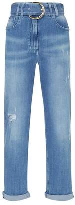 Balmain Straight Belted Jeans
