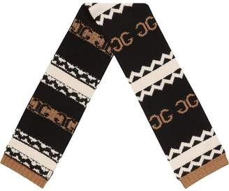 Gucci knitted mirrored GG scarf