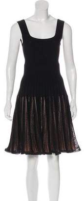 Alaia Silk-Blend Knee-Length Dress