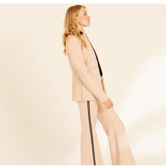 Amanda Wakeley Blush Fitted Jacket With Stitching Detail