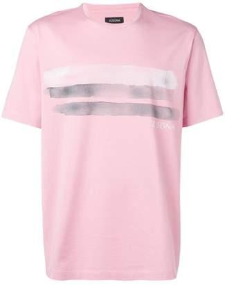 Ermenegildo Zegna brush strokes print T-shirt