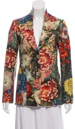 Gucci 2017 Floral Embellished Blazer