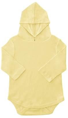 KidzStuff Long Sleeve Baby Bodysuit w/ Hood (Baby Boys or Baby Girls Unisex)