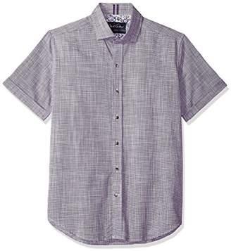 Robert Graham Men's ISIA Short Sleeve Slim FIT Shirt