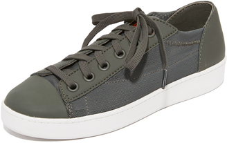 DKNY Brayden Mesh Classic Court Sneakers $148 thestylecure.com