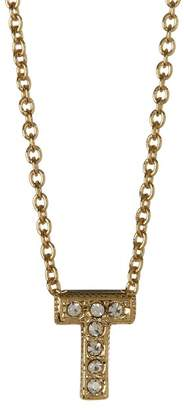 Nadri 18K Yellow Gold Plated Pave 'T' Initial Pendant Necklace