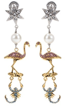 Miu Miu Miu Miu Crystal-embellished clip-on earrings