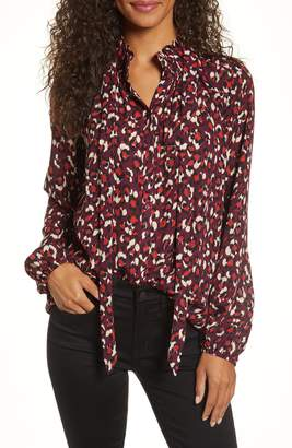 Gibson x Fall Refresh Fancy Ashley Smocked Bow Neck Top