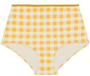 Solid & Striped Gingham High-Rise Bikini Briefs