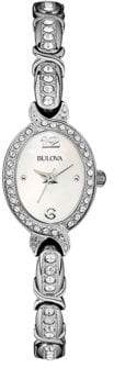 Bulova Ladies' Swarovski Crystal-Accented Stainless Steel Bangle Watch, 96L199 $275 thestylecure.com