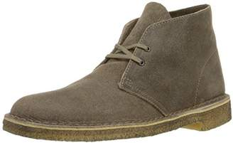Clarks Mens Desert Boot Taupe Distressed Boots M