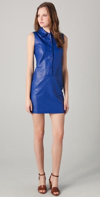 Raoul Hali Leather Dress