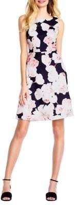 Adrianna Papell Floral Fitted A-Line Dress