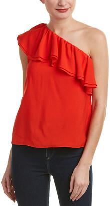 336aa07780ff0 at Rue La La · Rebecca Taylor One-Shoulder Silk Top