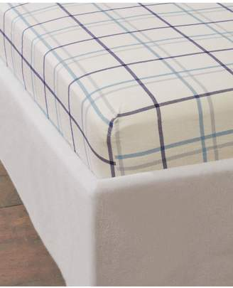 Very Cascade Home Brushed Cotton Check Fitted Sheet