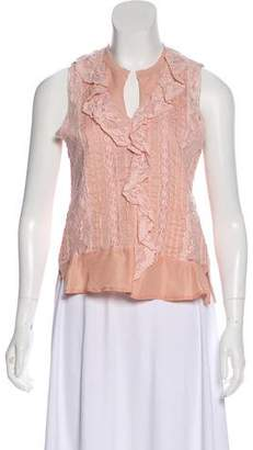 See by Chloe Lace-Accented Sleeveless Top w/ Tags