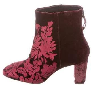 Alexandre Birman Regina Velvet Ankle Boots
