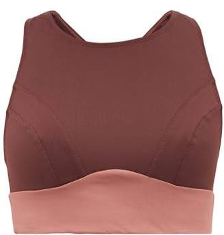 Celine Ernest Leoty Two Tone Sports Bra - Womens - Burgundy