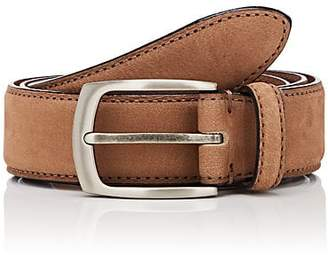 Barneys New York MEN'S NUBUCK BELT - BEIGE/TAN SIZE 40