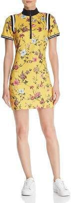 Pam & Gela Half-Zip Floral Dress