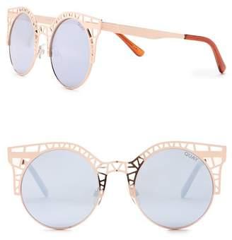Quay Fleur 58mm Cat Eye Sunglasses