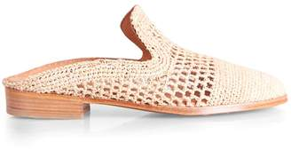 Clergerie Antes Raffia Slip-On Loafers