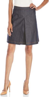 pink tartan A-Line Denim Skirt $295 thestylecure.com