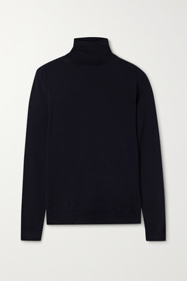 Wool Turtleneck Sweater - Midnight blue