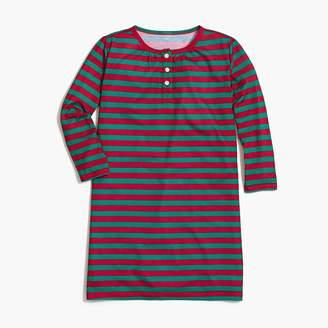 J.Crew Girls' long-sleeve nightgown in walter stripe
