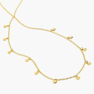 J.Crew Demi-fine 14k gold-plated long necklace with dot charms