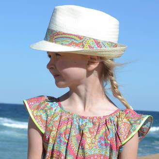 milliemanu Panama Hat With Liberty Print Band
