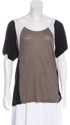 Rag & Bone Colorblock Short Sleeve Top
