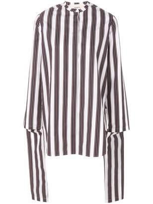 Ports 1961 draped striped blouse