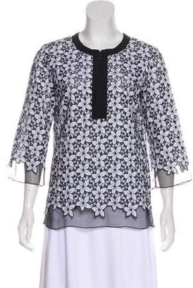 Andrew Gn Floral Long Sleeve Blouse
