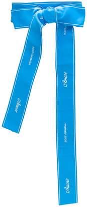 Dolce & Gabbana logo bow belt
