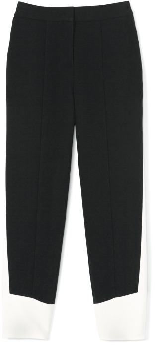 Narciso Rodriguez Black And White Sable Pants
