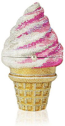 Judith Leiber Couture Crystal Vanilla Cone/Strawberry Twist Ice Cream Cone Clutch Bag