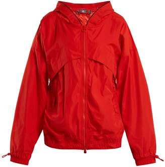adidas by Stella McCartney Hooded nylon windbreaker jacket