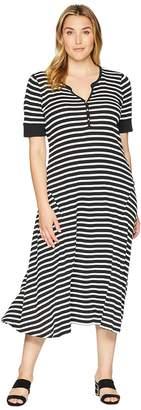 Lauren Ralph Lauren Plus Size Cotton Fit-and-Flare Dress Women's Dress
