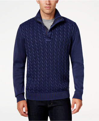 Weatherproof Men's Cable Knit Sweater, Classic Fit $135 thestylecure.com