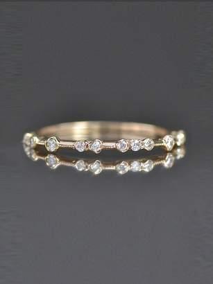 Kataoka Fine Scattered Diamond Stacking Band Ring