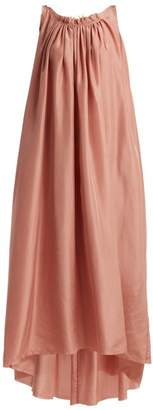 Loup Charmant - Gather Scoop Back Silk Dress - Womens - Pink