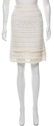 Oscar de la Renta Crocheted Knee-Length Skirt