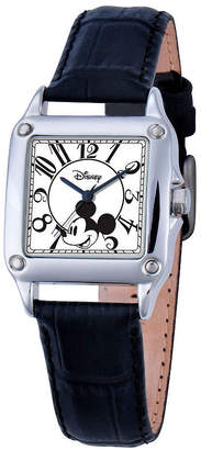 Disney Mickey Mouse Womens Black Strap Watch-W000464