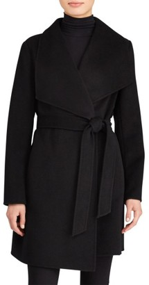 Women's Lauren Ralph Lauren Double Face Wool Blend Wrap Coat $320 thestylecure.com