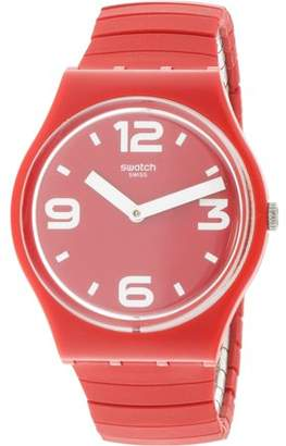 Swatch Chili GR173A Red Silicone Swiss Parts Quartz Fashion Watch