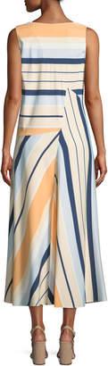 Lafayette 148 New York Divinity Striped Drop-Waist Maxi Dress