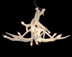 Jason Miller 6 Antler Chandelier Pendant Lamp