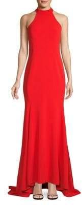Calvin Klein Halterneck High-Low Gown